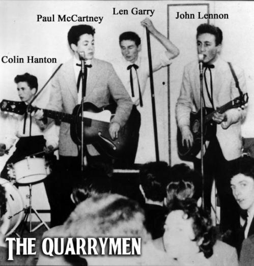 A estréia de Paul nos Quarrymen crédito: http://glitterking.com/images/The-Quarrymen.jpg
