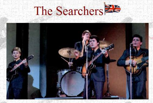 The Searchers na linha de frente da Invasão britânica crédito: http://ukinvasion.files.wordpress.com/2011/06/searchers-on-brit-beat-boom.jpg