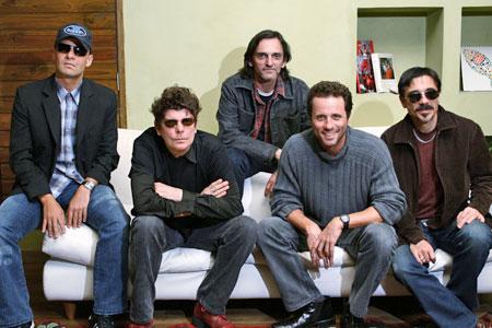 Titãs em 2005: cicno caras e o Rock and Roll Foto: Marcelo Barabani/AE